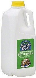 buttermilk lowfat, cultured Meadow Brook Nutrition info