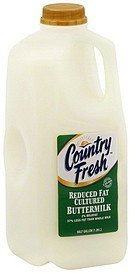 buttermilk reduced fat cultured, 2% milkfat Country Fresh Nutrition info