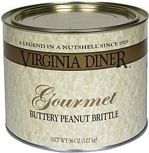 buttery peanut brittle gourmet Virginia Diner Nutrition info