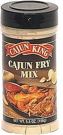 cajun fry mix Cajun King Nutrition info