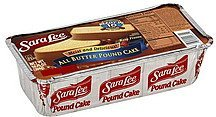 cake all butter Sara Lee Nutrition info