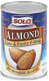 cake and pastry filling almond Solo Nutrition info