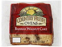 cake banana walnut Country Fresh Ovens Nutrition info