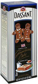 cake & cookie mix gingerbread, english Dassant Nutrition info