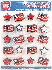 cake decorations patriotic candy Cake mate Nutrition info