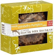 cake maple cranberry pumpkin Dancing Deer Baking Co. Nutrition info