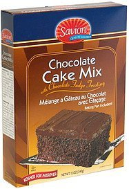 cake mix chocolate with chocolate fudge frosting Savion Nutrition info