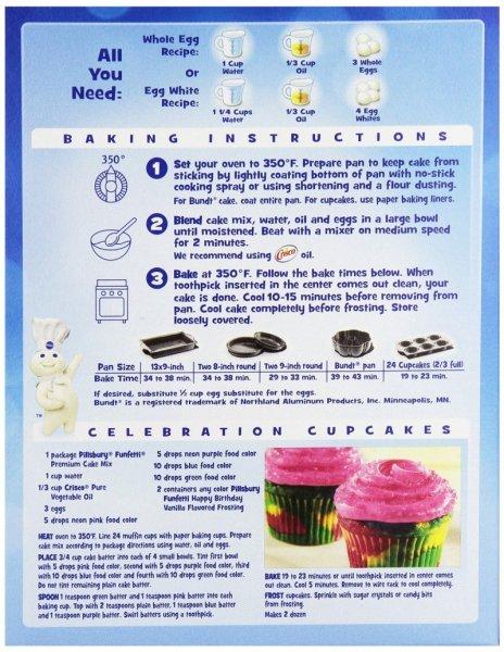 Pillsbury Funfetti Cake Mix Ingredients