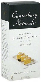 cake mix sunshine lemon Canterbury Naturals Nutrition info