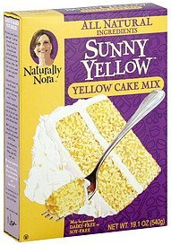 cake mix yellow Naturally Nora Nutrition info