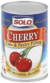 cake & pastry filling cherry Solo Nutrition info