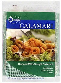 calamari cleaned, wild-caught Sea Fresh USA Nutrition info