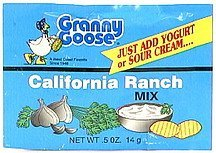 california ranch dip mix Granny Goose Nutrition info