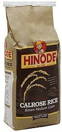 calrose rice brown medium grain, extra fancy Hinode Nutrition info