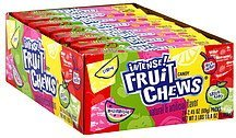 candy assorted flavors Intense! Fruit Chews Nutrition info