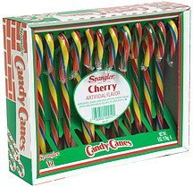 candy canes cherry Spangler Nutrition info