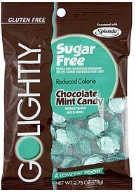 candy chocolate mint GoLightly Nutrition info