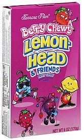 candy fruit, lemon heads & friends, berry chewy Ferrara Pan Nutrition info