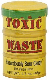 candy hazardously sour Toxic Waste Nutrition info