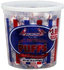 candy puffs, soft peppermint Red Bird Brand Nutrition info