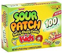 candy soft & chewy, kids Sour Patch Nutrition info