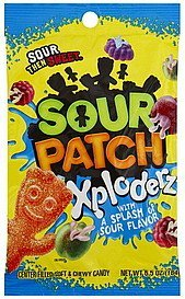 candy soft & chewy, xploderz Sour Patch Nutrition info