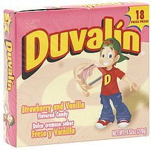 candy strawberry and vanilla flavored Duvalin Nutrition info
