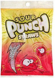 candy straws, strikin' strawberry Sour Punch Nutrition info