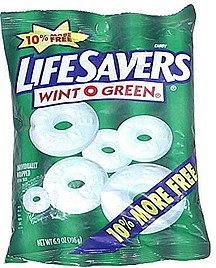 candy wintogreen Lifesavers Nutrition info