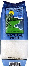 cane sugar natural white Maui Brand Nutrition info