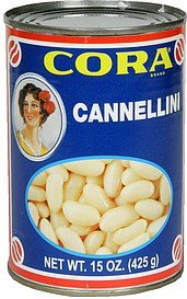 cannellini white kidney beans Cora Nutrition info
