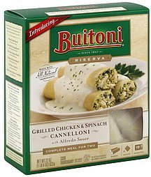 cannelloni grilled chicken & spinach, with alfredo sauce Buitoni Nutrition info