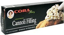 cannoli filling Cora Nutrition info
