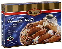 cannoli shells hand rolled Bellino Nutrition info