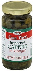 capers imported, in vinegar Casa Visco Nutrition info