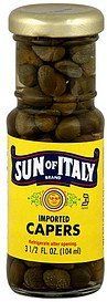 capers imported Sun of Italy Nutrition info