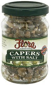 capers with salt Flora Italian Foods Nutrition info