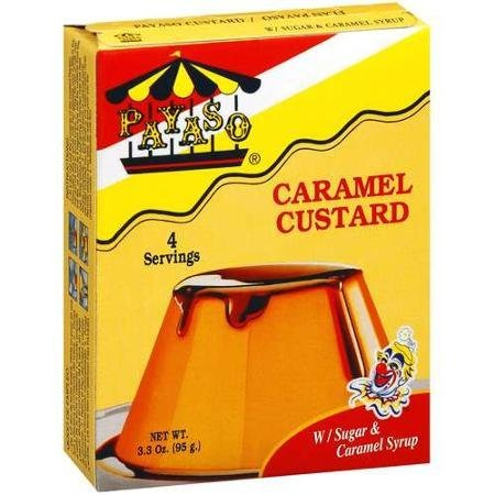 caramel custard Payaso Nutrition info