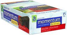 carb management bars double chocolate Momentum Nutrition info