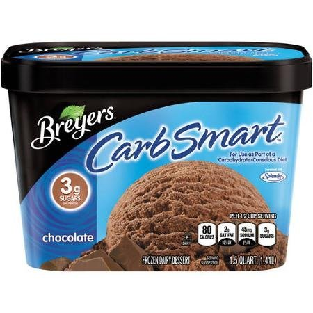 carb smart chocolate ice cream Breyers Nutrition info