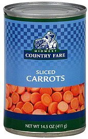 carrots sliced Midwest Country Fare Nutrition info