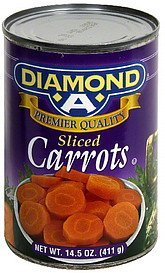 carrots sliced Diamond A Nutrition info