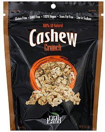 cashew crunch Nut Land Nutrition info