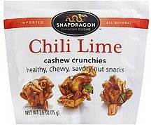 cashew crunchies chili lime, medium Snapdragon Nutrition info
