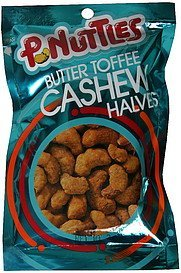 cashew halves butter toffee P. Nuttles Nutrition info