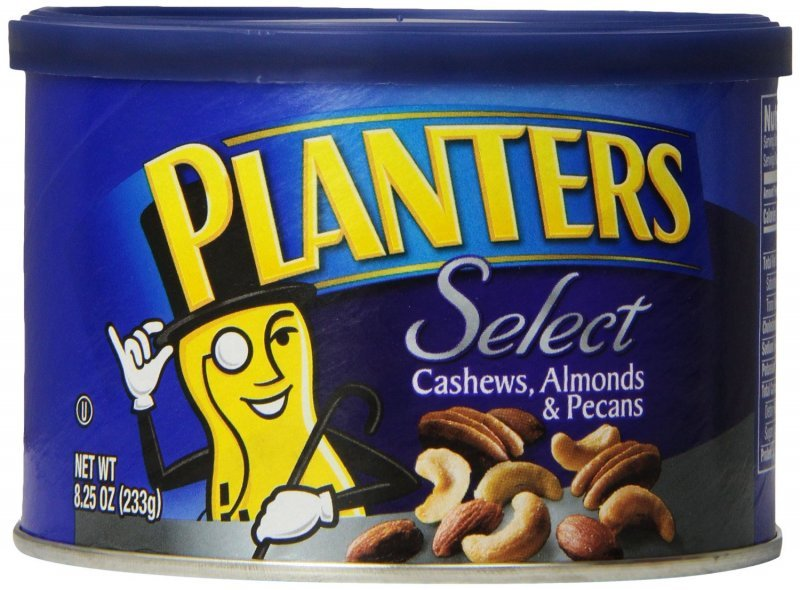 cashews almonds and pecans select Planters Nutrition info