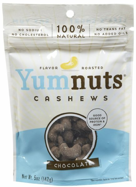 cashews chocolate Yumnuts Nutrition info