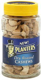 cashews dry roasted Planters Nutrition info