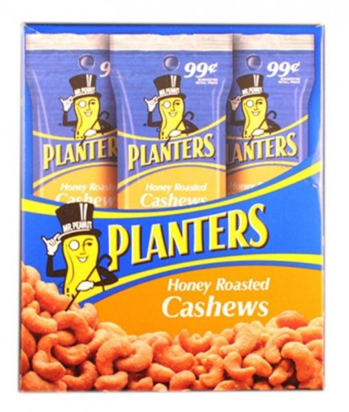 cashews honey roasted Planters Nutrition info