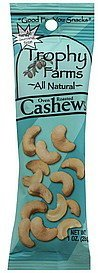 cashews oven roasted Trophy Farms Nutrition info